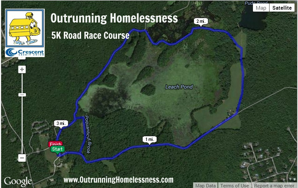 Outrunning Homelessness Course Terrain