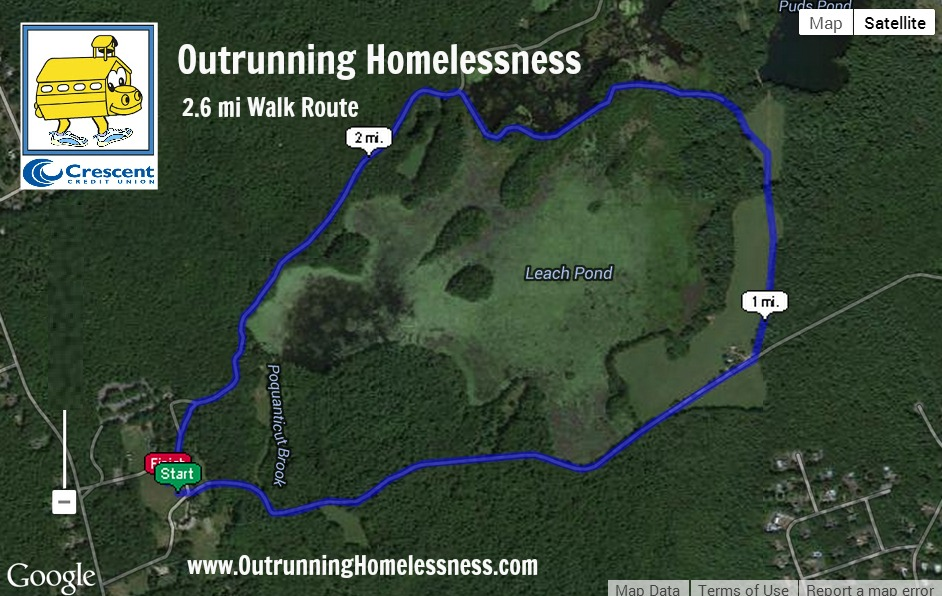 Outrunning Homelessness Walk Course